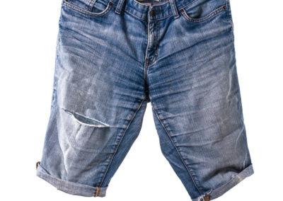 Kurze Jeans Produktfotografie