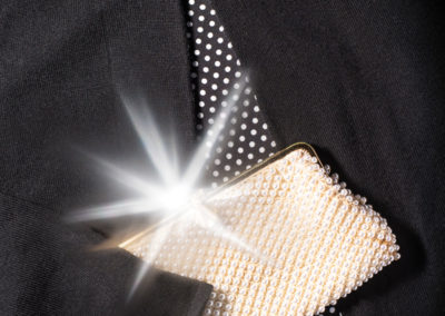 Perlen Clutch Jacke Produktfotografie